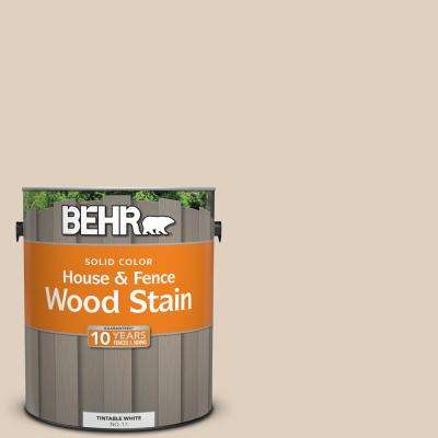 1 gal. #N240-2 Adobe Sand Solid House and Fence Wood Stain