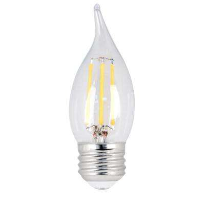 40W Equivalent Daylight CA10 Dimmable Clear Filament LED Medium Base Light Bulb (Case of 48)