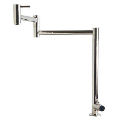 Deck Mount Potfiller in Polished Stainless Steel