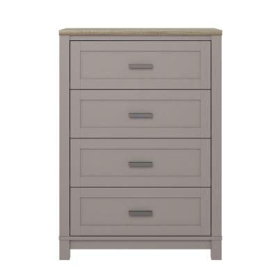 Viola Gray/Light Brown 4-Drawer Dresser