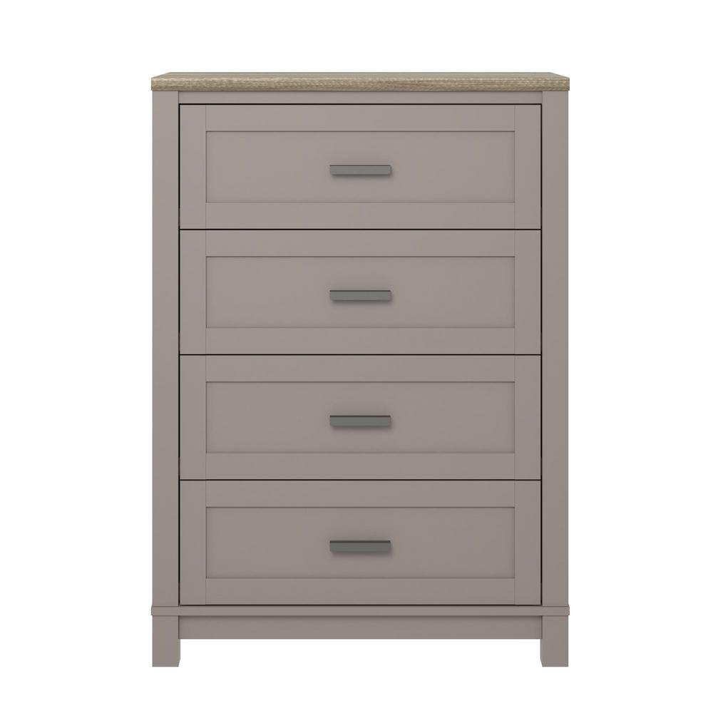Viola Gray Light Brown 4 Drawer Dresser