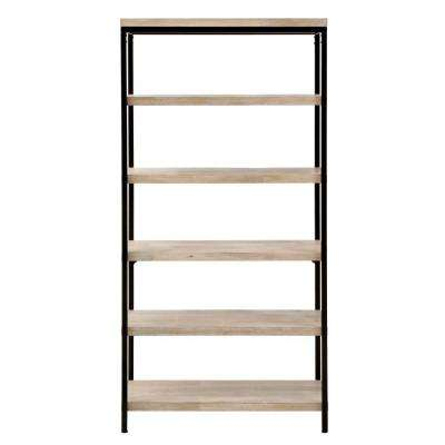 Anjou White Wash Open Bookcase
