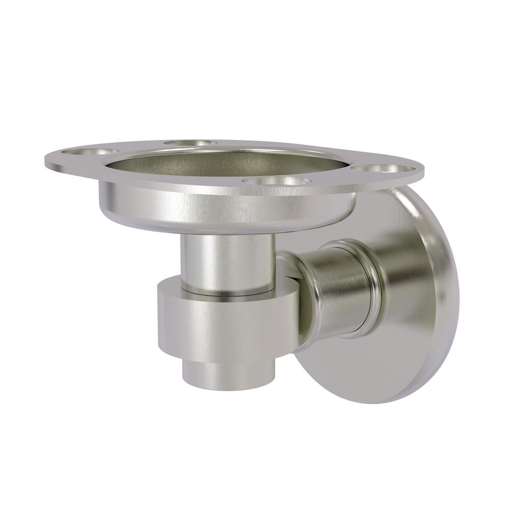 Continental Collection Tumbler and Toothbrush Holder in Satin Nickel