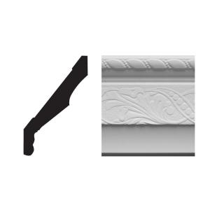 7860 11/16 in. x 5 in. x 8 ft. PVC Composite White Crown Moulding