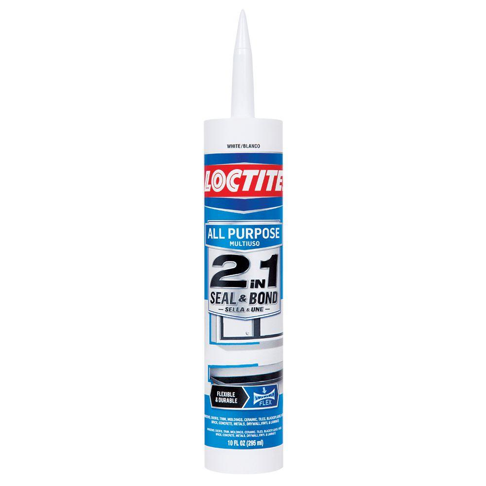 Loctite 10 fl. oz. White 2-in-1 Seal and Bond All-Purpose Sealant (12-Pack)