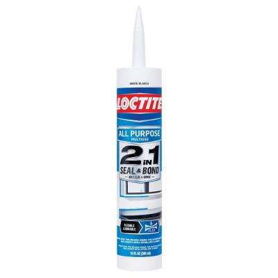 10 fl. oz. White 2-in-1 Seal and Bond All-Purpose Sealant (12-Pack)