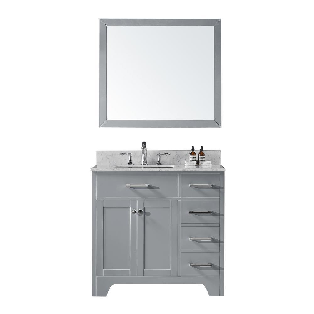 Exclusive Heritage 36 in. D Single Sink Bathroom Vanity in ...