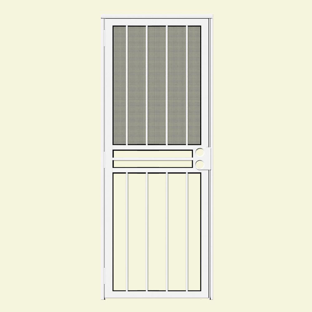 White Unique Home Designs Security Doors Exterior Doors