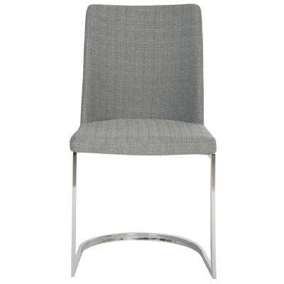 Parkston Gray 18 in. H Linen Side Chair (Set of 2)