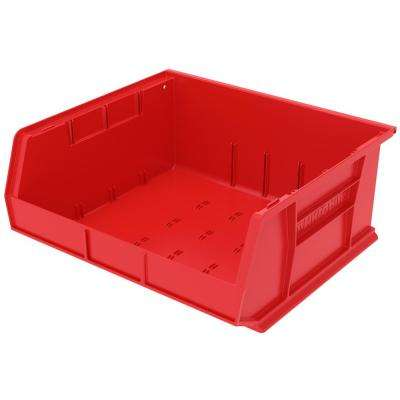AkroBin 16.5 in. 75 lbs. Storage Tote Bin in Red with 5.5 Gal. Storage Capacity