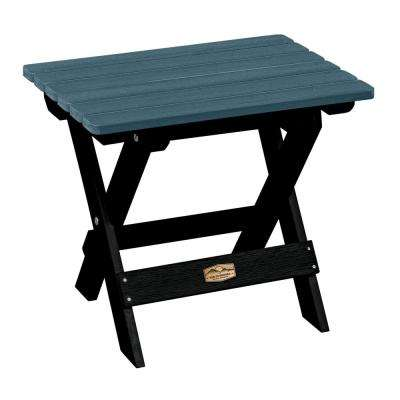 Essential Shale Rectangular Recycled Plastic Outdoor Folding Side Table