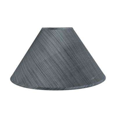 19 in. x 12 in. Grey and Black and Striped Pattern Hardback Empire Lamp Shade