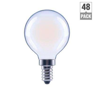 40-Watt Equivalent G16.5 Globe Dimmable ENERGY STAR Frosted Glass Filament Vintage LED Light Bulb Daylight (48-Pack)