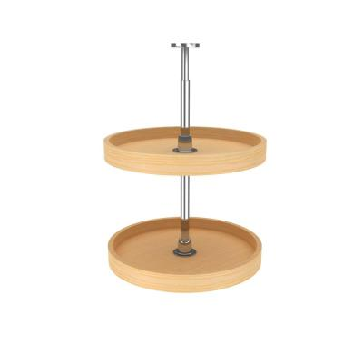 18 in. Banded Wood Full Circle Lazy Susans 2-Shelf