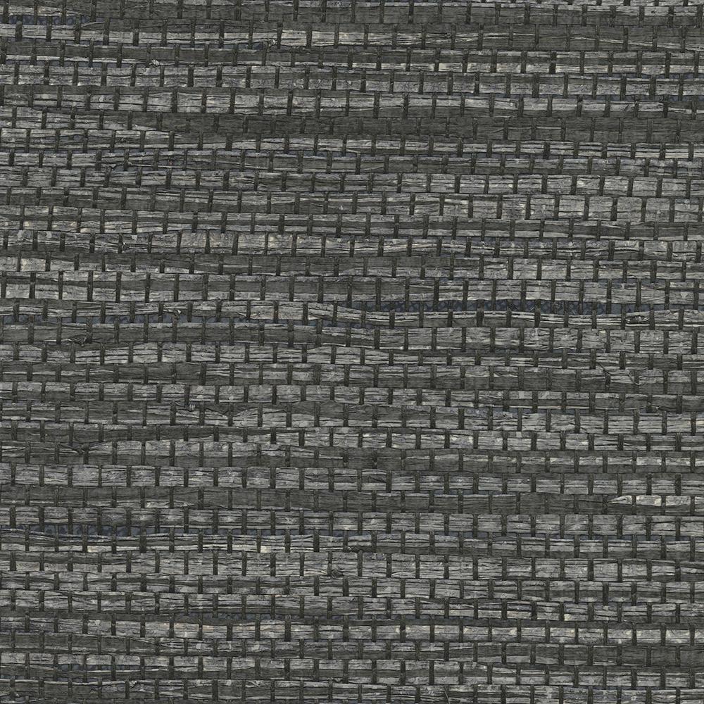 72 sq. ft. Cotabato Charcoal Grass Cloth Wallpaper