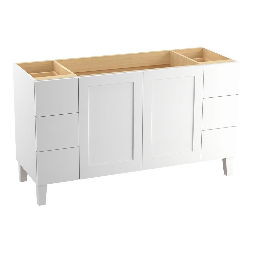 Poplin 60 in. Vanity Cabinet Only in Linen White