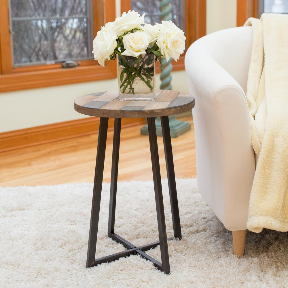 FirsTime Miller Weathered Tan Rustic Wood Table