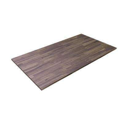 8 ft. L x 2 ft. 1.5 in. W x 1.5 in. T Butcher Block Countertop in Oiled Acacia with Dusk Grey Wood Oil Stain