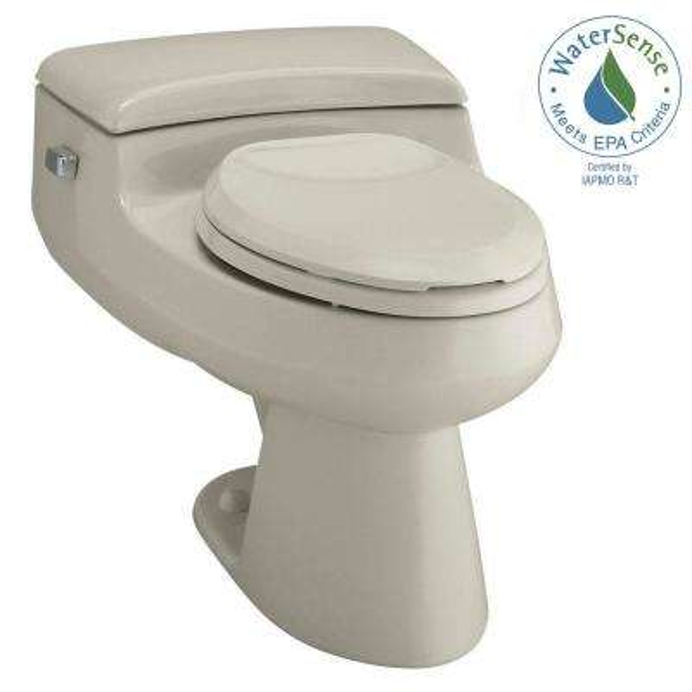San Raphael Comfort Height 1-piece 1 GPF Single Flush Elongated Toilet in Sandbar
