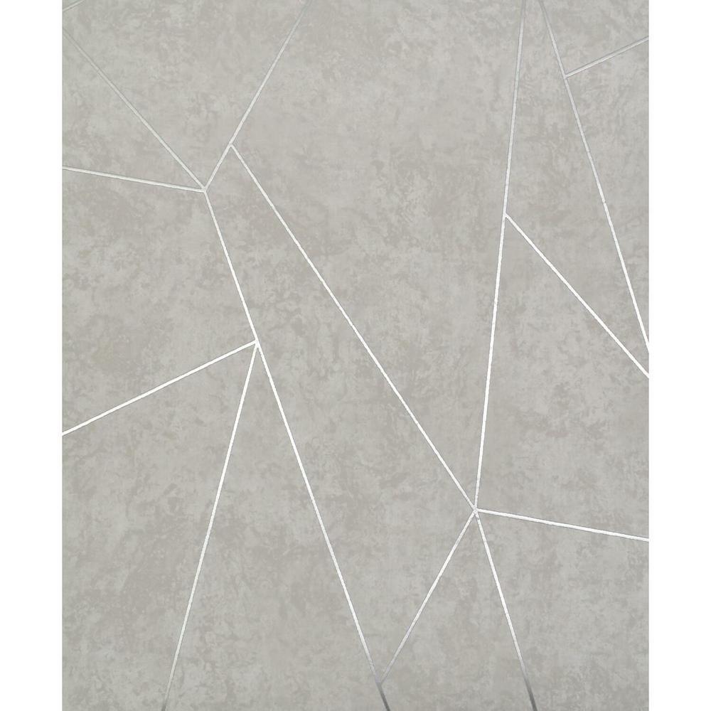 56.9 sq. ft. Lt Grey/Silver Nazca Wallpaper