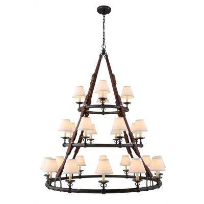 Cascade 24-Light Bronze Pendant Lamp