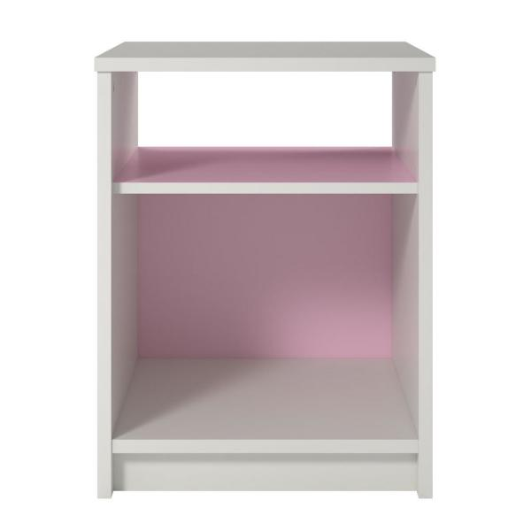 Ameriwood Valentine White/Blue and Pink Nightstand