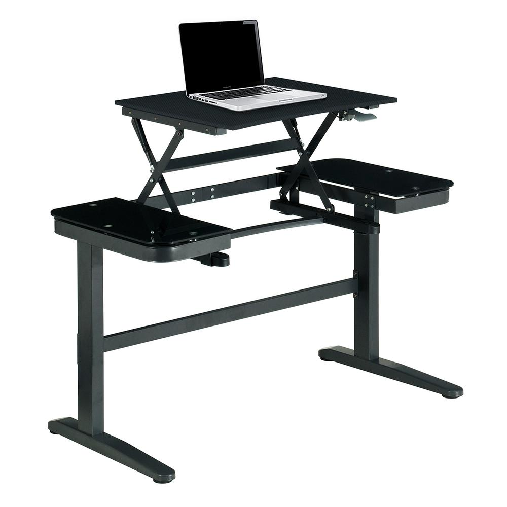 Techni Mobili Ergonomic Black Pneumatic Adjustable Standing Desk Rta