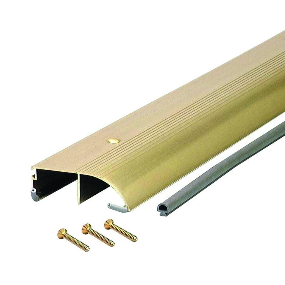 High 3-3/8 in. x 32-1/2 in. Brite Gold Aluminum Bumper Threshold