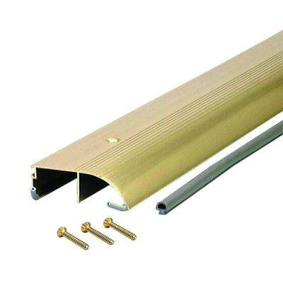 High 3-3/8 in. x 96 in. Brite Gold Aluminum Bumper Threshold