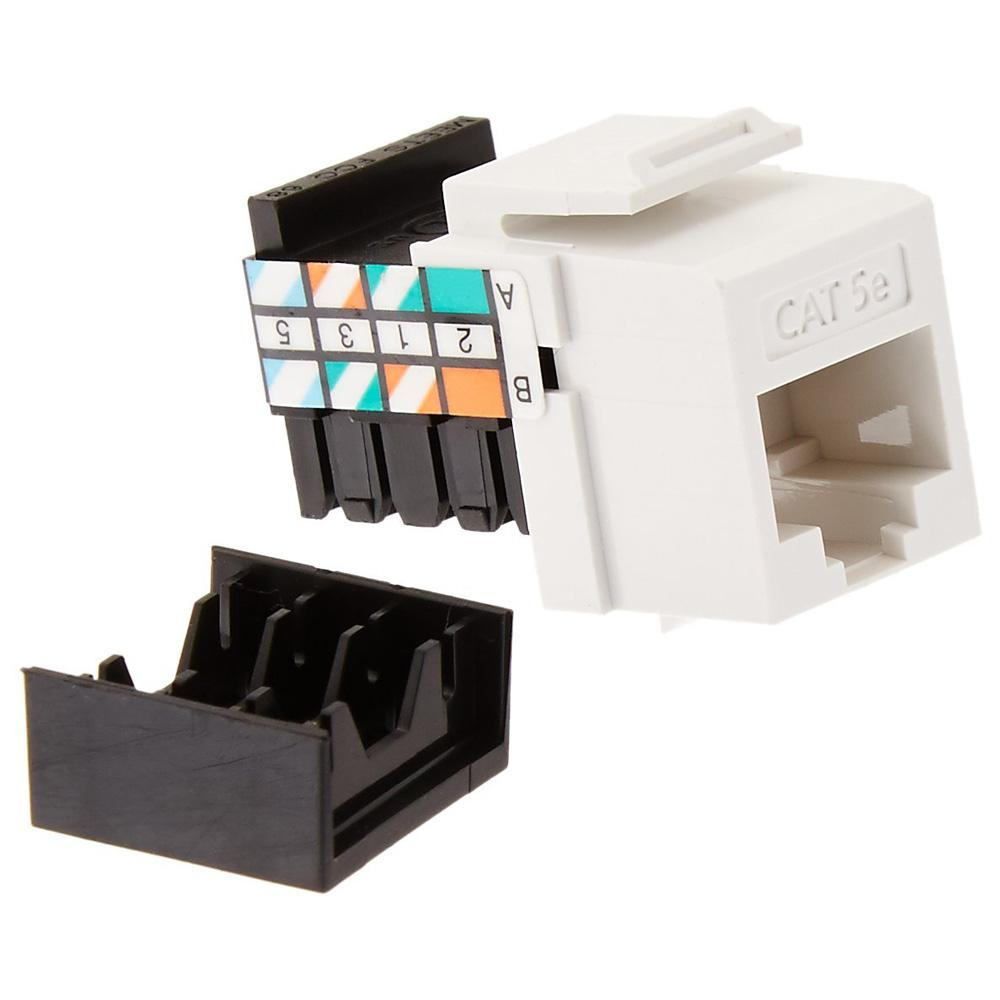 leviton quickport gigamax cat 5e t568a/b wiring connector, white (25-pack)-5g108-bw5 - the home ... rj45 cat 5e wiring diagram