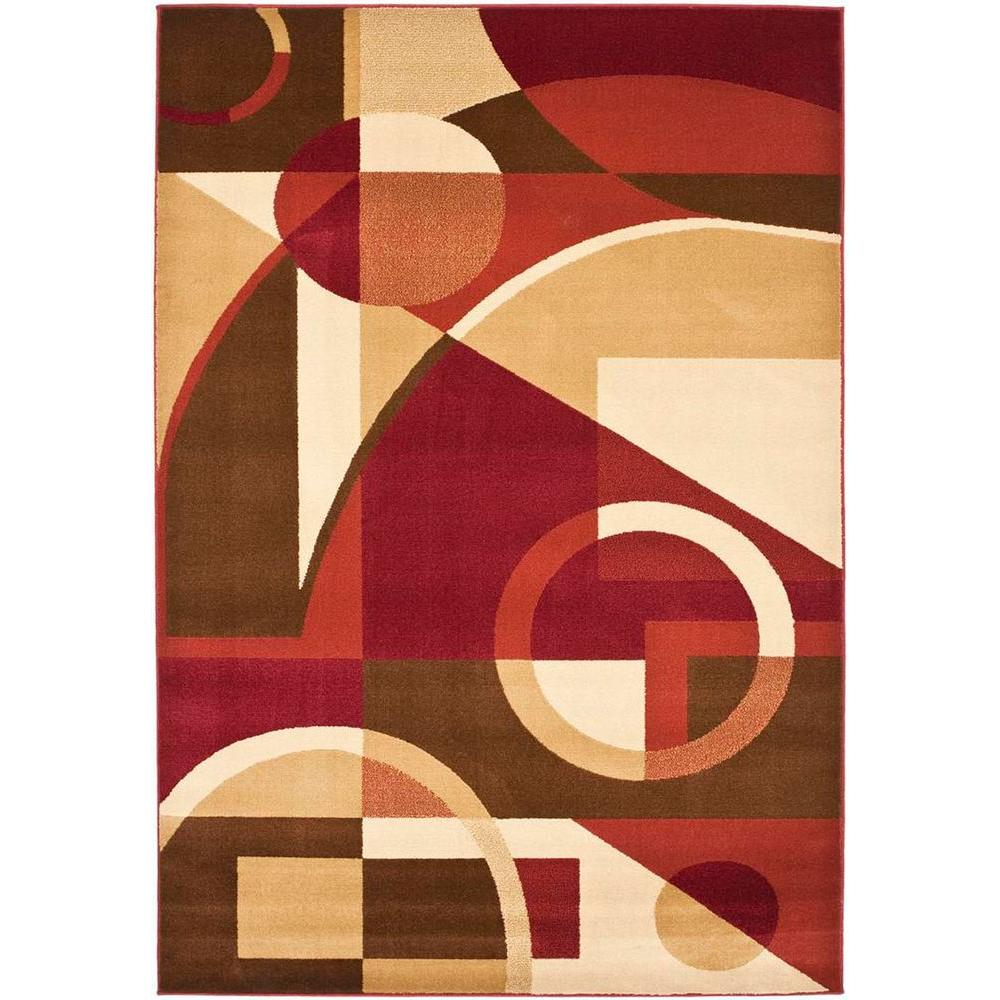 Safavieh Porcello Red Multi 8 Ft X 11 Ft 2 In Area Rug