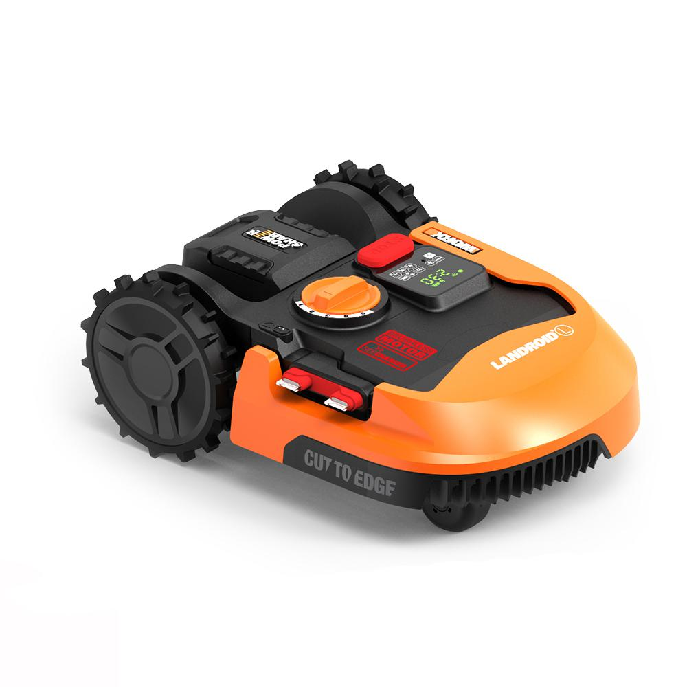 Worx 20-Volt 9 in. 4.0 Ah Lithium-Ion Robotic Landroid L...