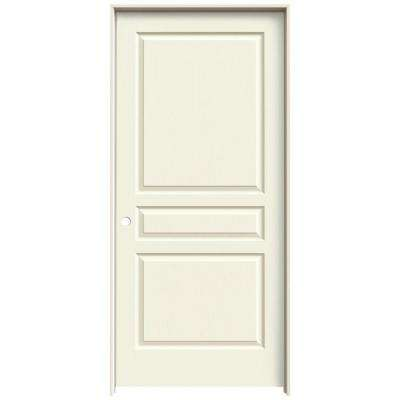 36 in. x 80 in. Avalon Vanilla Painted Right-Hand Textured Hollow Core Molded Composite MDF Single Prehung Interior Door