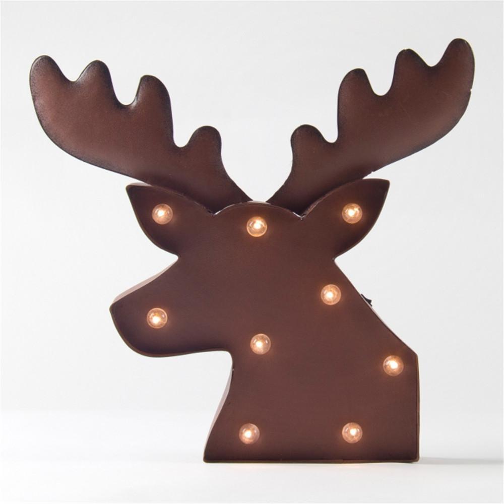 15.76 in. H Marquee LED Rusty Reindeer Head