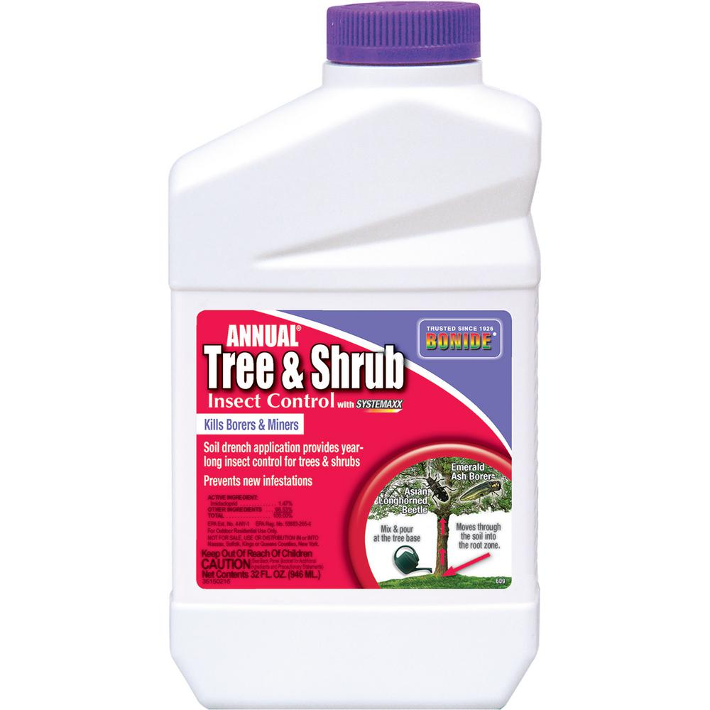 Bonide 32 Oz Annual Tree And Shrub Insect Control Concentrate With