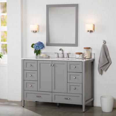 Claxby 48 in. W x 34 in. H x 21 in. D Bath Vanity Cabinet Only in Sterling Gray
