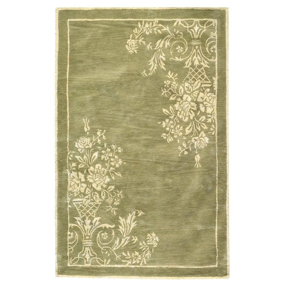 Home Decorators Collection Eminence Sage and Cream 8 ft. x 11 ft. Area Rug