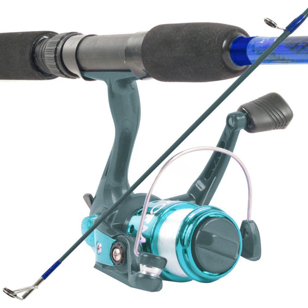 South Bend Worm Gear Fishing Rod and Spinning Reel Combo in Blue