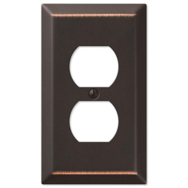 Metallic 1 Gang Duplex Steel Wall Plate - Aged Bronze