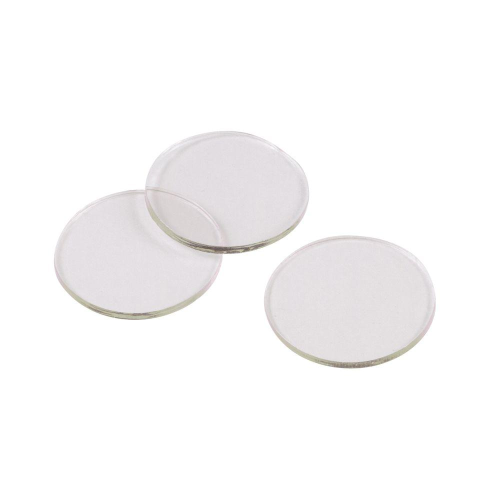 Shepherd 3 4 In Clear Vinyl Non Adhesive Discs For Glass