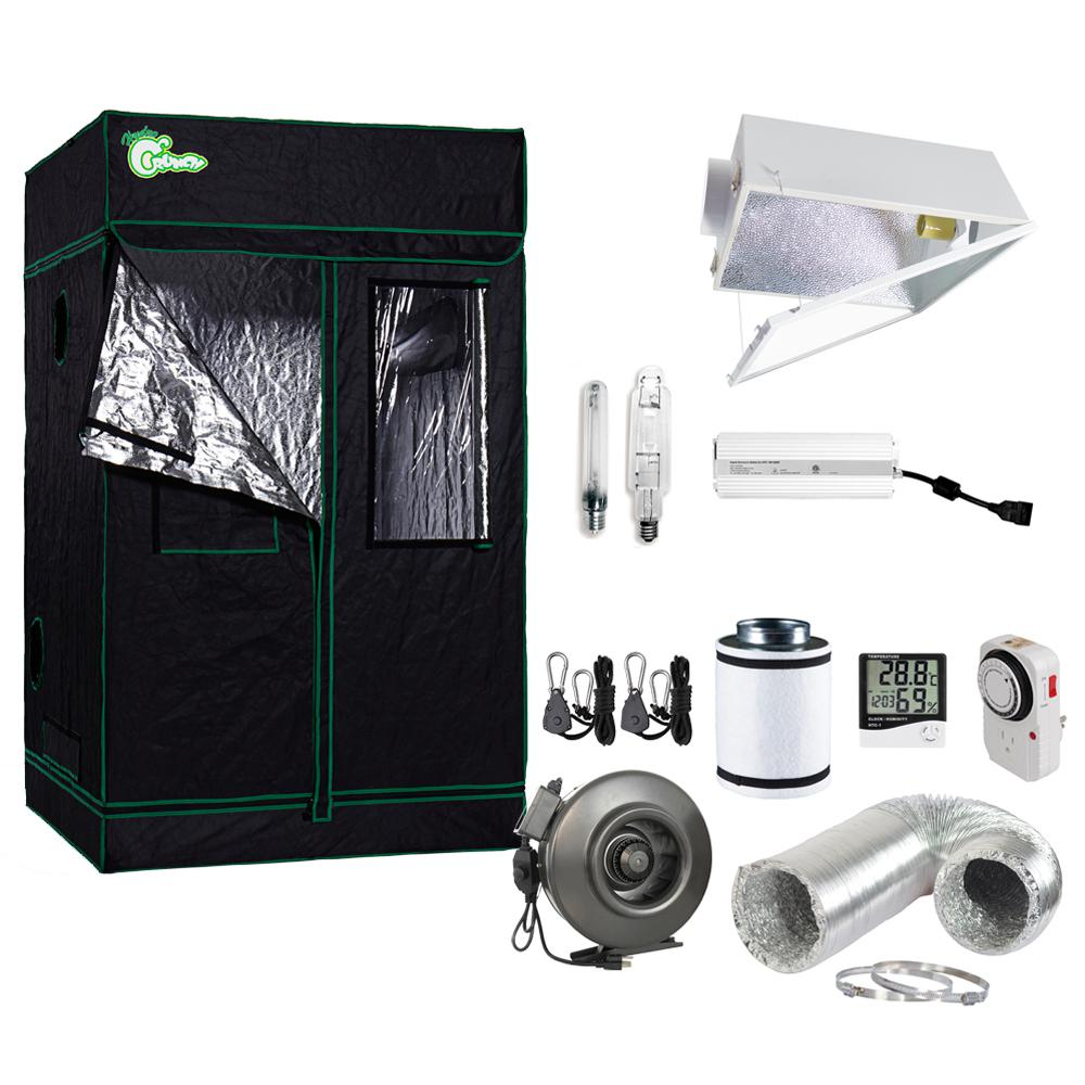 1000-Watt HPS/MH Large Air Cooled Grow Light System with Grow Tent