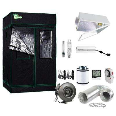 1000-Watt HPS/MH Large Air Cooled Grow Light System with Grow Tent and Ventilation System