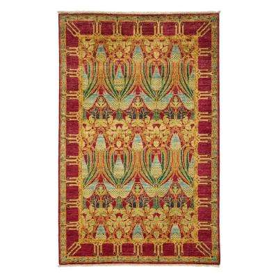 Suzani Red 4 ft. x 6 ft. Indoor Area Rug