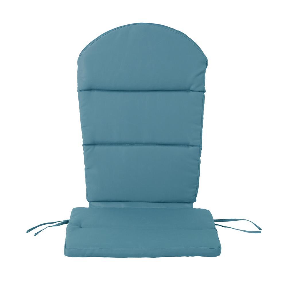 Malibu Dark Teal Outdoor Adirondack Chair Cushion (4-Pack)