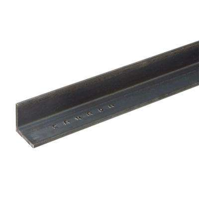 2 in. x 72 in. Plain Steel Angle with 1/8 in. Thick