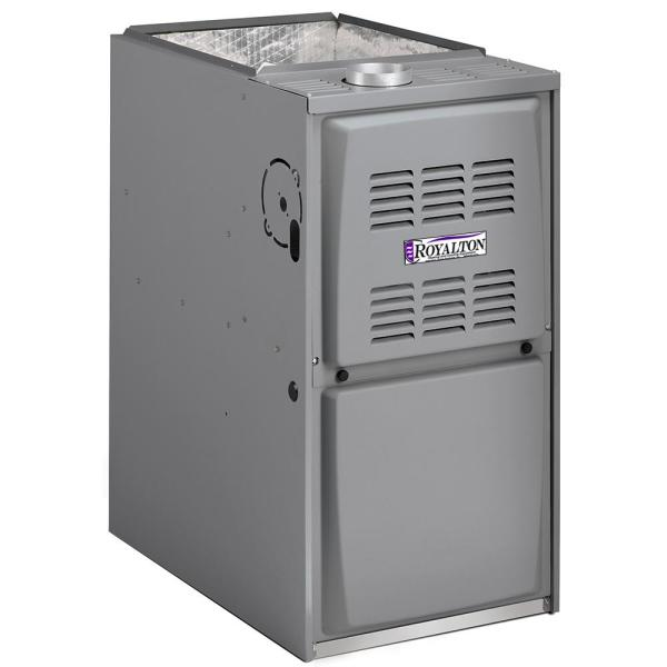 110,000 BTU 80% AFUE Single-Stage Upflow/Horizontal Forced Air Natural Gas Furnace with ECM Blower Motor