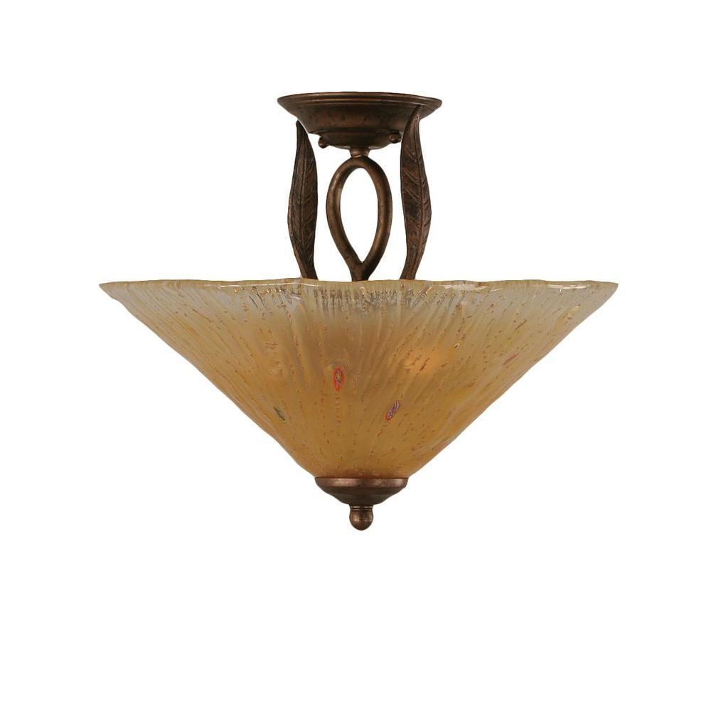 Filament Design Concord 3 Light Ceiling Bronze Incandescent Semi-Flush Mount