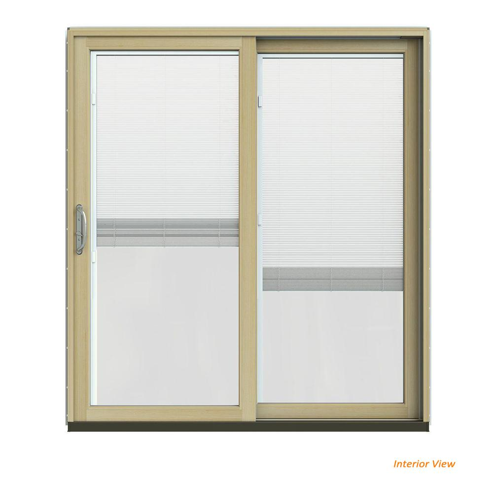 72 in. x 80 in. W-2500 Contemporary Green Clad Wood Right-Hand