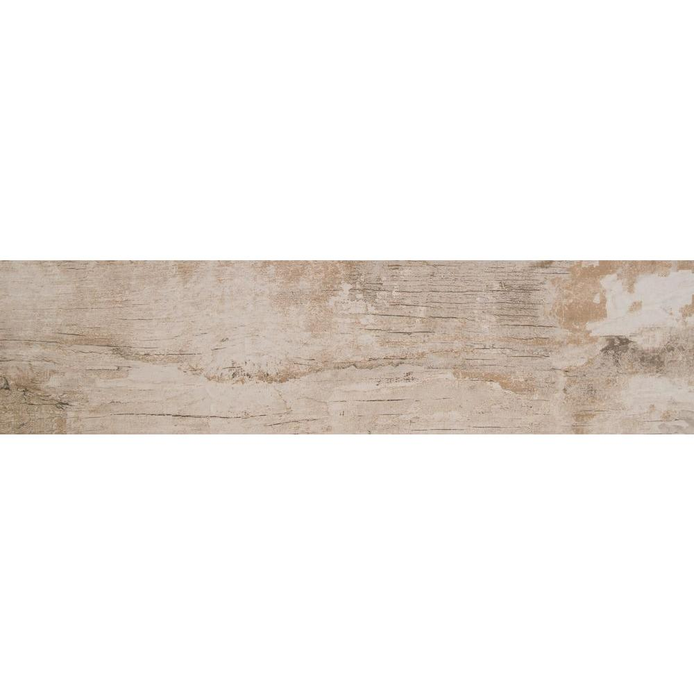 MSI Arte Blanco 6 in. x 36 in. Glazed Porcelain Floor and Wall Tile ...
