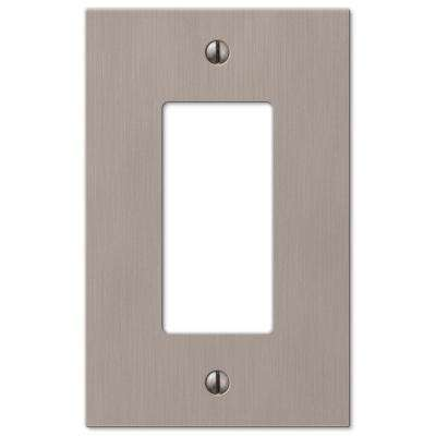 Barnard 1 Decora Wall Plate - Brushed Nickel Cast